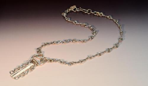 Sterling silver dangle, sterling silver chain, sterling silver gook clasp