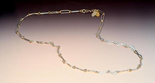 Fine silver, 14K gold-filled, fine silver hook clasp