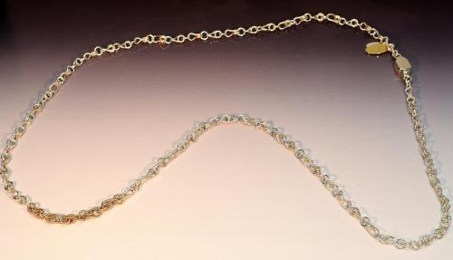 Sterling silver, 14k gold-filled, sterling clasp